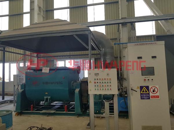 液压翻缸电加热混捏机在中东某大型铝厂生产电解槽大修用糊料